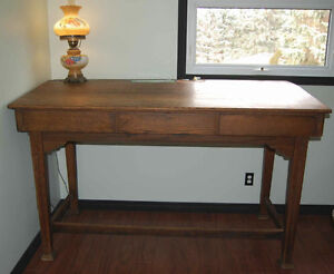 Antique sloped office counter