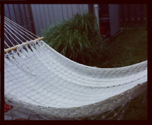 Hammock (no stand) . Great condition. Purchased from Tiki loft.