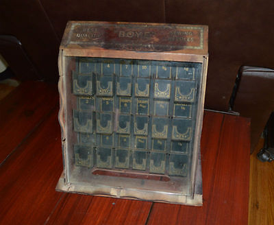 Antique Boye Sewing Needle Display Case
