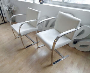 Knoll Brno Leather Chairs - Replica