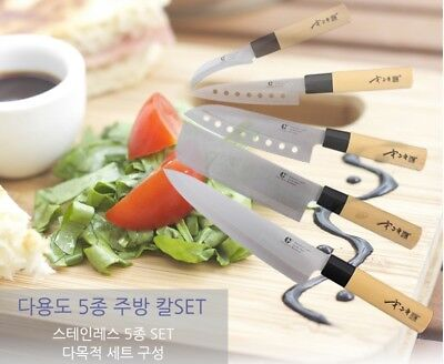 5Pcs Stainless Steel Kitchen Knife Sets with Various Knife Cooking Tool