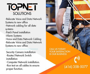 Network cabling for all data systems