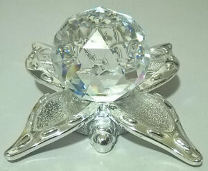 Clear Crystal Facted Ball with Alloy Butterfly Base