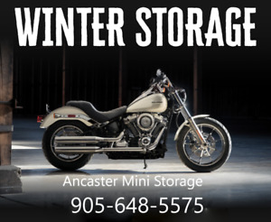 Motorcycle storage available.