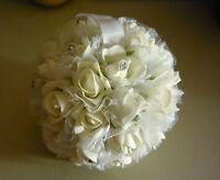 Flower Girl Or Kissing Sparkle Ball For Wedding Bouquet Flowers.