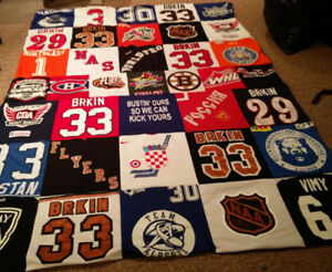 Custom Made T-Shirt Quilts Finished By Mail - Fast Turnaround