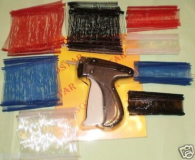 CLOTHING PRICE LABEL TAGGING TAG GUN WITH 2000 BARBS FASTENERS