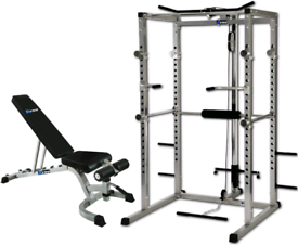 Ryno power cage with weights and bench
