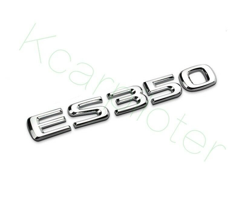 1Pcs Alloy Metal Chrome New ES350 Auto Body Rear Trunk Lid Sticker Badge Emblems