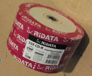 cd-r 50pcs pack, white hub printable, new