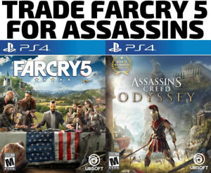 TRADE PS4 Farcry 5 for Assassins Creed Odyssey (or others)