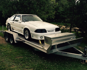 1992 Mustang GT and 18' Aluminum Trailer