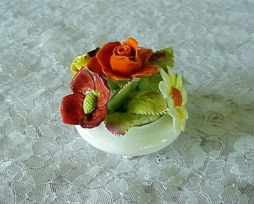 Vintage Royal Adderley Floral Arrangement Footed Bone China England