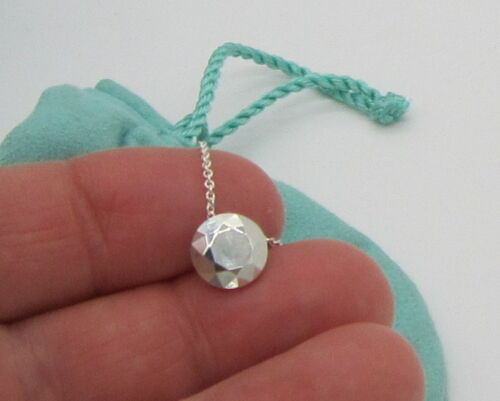 Tiffany & Co Vintage Rare Elsa Peretti Sterling Silver Two Carat FACET Necklace