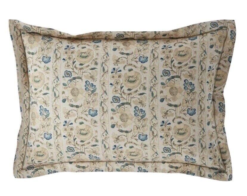 $130 Ralph Lauren Constantina Cassandra Floral Standard Pillow Sham Bedding