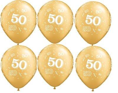 50 Anniversary Decorations (50th Birthday Anniversary 6 ct Gold 11