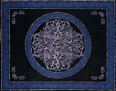 Used, Handmade Cotton Celtic Circle Wheel Of Life Tapestry Spread Queen Purple Black for sale  Concord