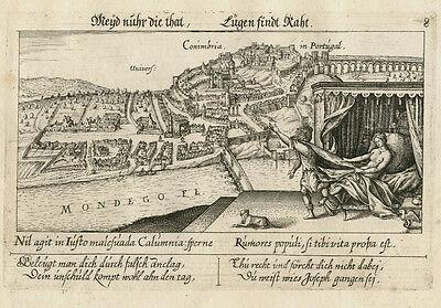 Coimbra/Portugal: Kupferstich, Meisner's Schatzkästlein, 1626