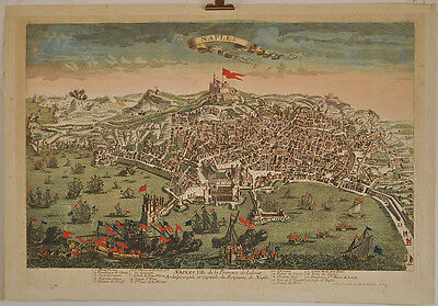 Napoli/Neapel: Kupferstich/Incisione su rame (Guckkasten), ca. 1780