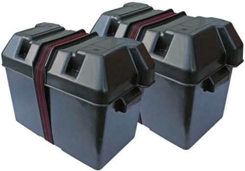 Batteriekasten Batteriebehälter 2er-Set  aus Kunststoff für Motorboote