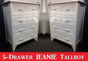 5 Drawer Tallboy Chest BRAND NEW with Warranty + FREE DELIVERY New Farm Brisbane North East Preview