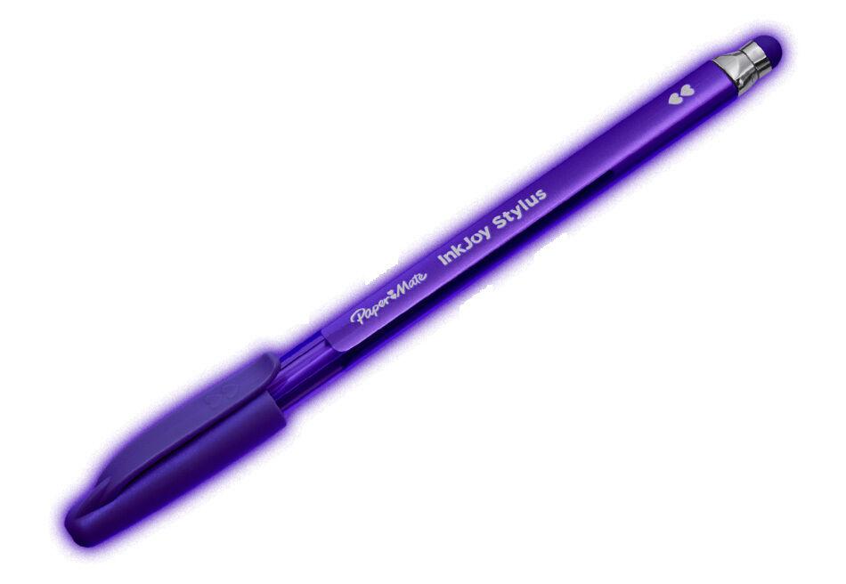 Papermate  2 In1 Ink Joy Stylus Purple Pen 1937088 New