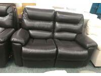 2 x La Z Boy Chocolate Brown 2 seater manual recliner sofas