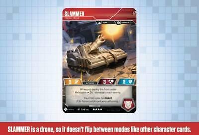 Transformers TCG 1X SLAMMER - Feud DRONE Foil Rare T04 Wave 1A METROPLEX DECK