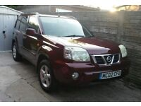 Nissan X Trail SE+ Diesel, Leather trim, panoramic roof, tow bar, 6 CD player, electric windows.