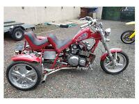 Road Legal Show Trike Kawasaki engined ZX1100 Project px swap Runs well