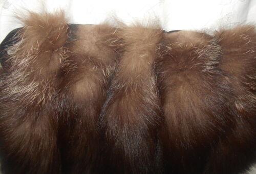 Vintage Large Silver Fox Fur Hand Muff