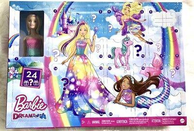Barbie Dreamtopia Advent Calendar Christmas Countdown Doll Fairytale IN HAND