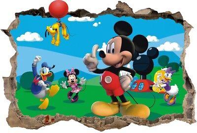 s46  micky maus 120 cm mickey mouse minnie donald pluto Wandaufkleber Wandtattoo