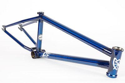 "S&M BIKES ATF FRAME TRANS BLUE 22 BMX BIKE 22"" TT 20"" TRANSLUCENT LTF BTM FIT"