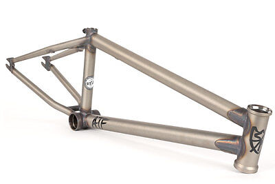 """S&M 22 INCH ATF FRAME 21.625 PRIMER RAW CLEAR COAT FACTION INDUCT BMX BIKE 22"""""""