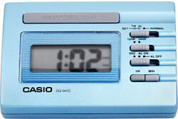 Casio DQ541D-2R Blue LED Light Digital Travel Alarm Clock with Snooze NEW