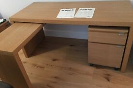 Brand new IKEA JONAS DESK AND FILLING CABINET