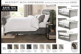 Next Westcott velvet, king bed