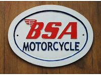 BSA Cast Iron sign - new