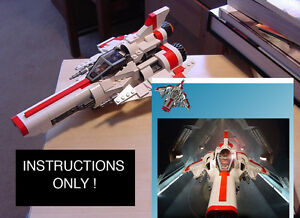 CUSTOM-Battlestar-Galactica-NEW-Viper-MK-II-mark-2-Instructions-Only