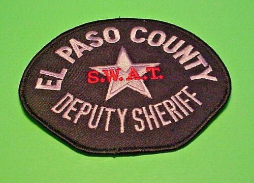 """EL PASO COUNTY  COLORADO  SWAT  DEPUTY SHERIFF / POLICE PATCH  3 3/4"""" x 4 3/4"""""""