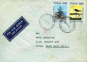 """Italia 15.10.1985 """" Aerogramma da PALERMO destinazione FAIR LAWN ( N.J.) """" - Italia - L'oggetto può essere restituito - Italia"""