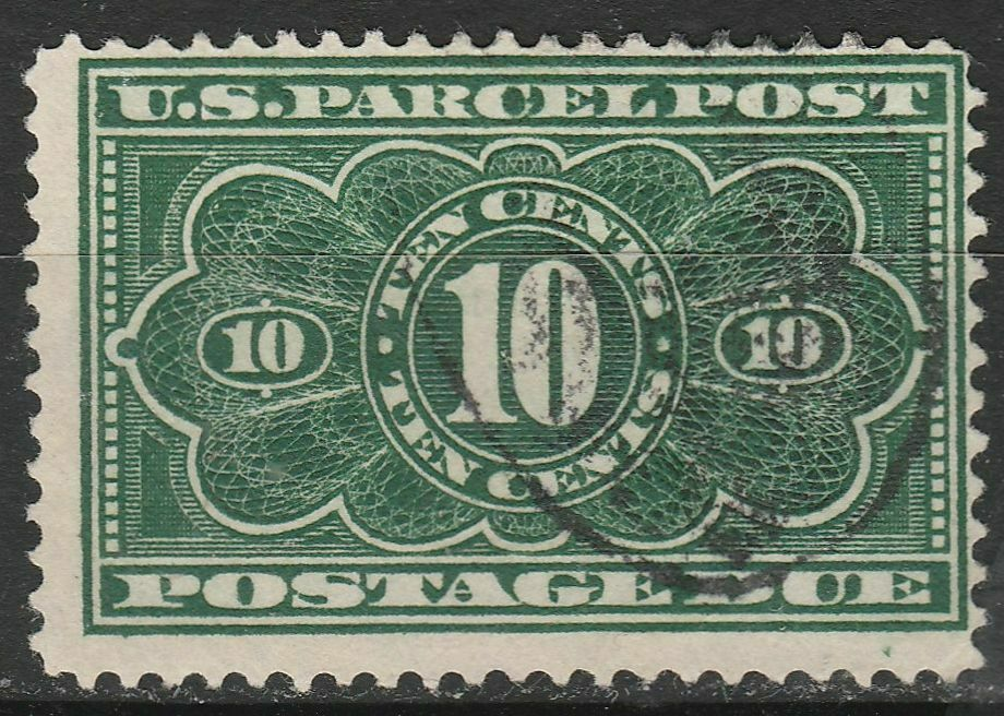 USA Scott JQ4 Parcel Post Postage Due 10 Cent Used JQ4-3  - $14.95