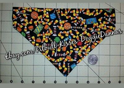 DOG BANDANA Over Collar XS-L HALLOWEEN GHOUL HOUSE ROCKS CANDY Bright CLOSEOUT - Halloween Closeout
