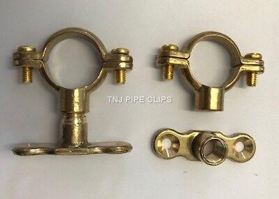 Brass munsen ring Bracket - 15mm, 22mm, 28mm, 35mm, 42mm, 54mm - Pipe Clips
