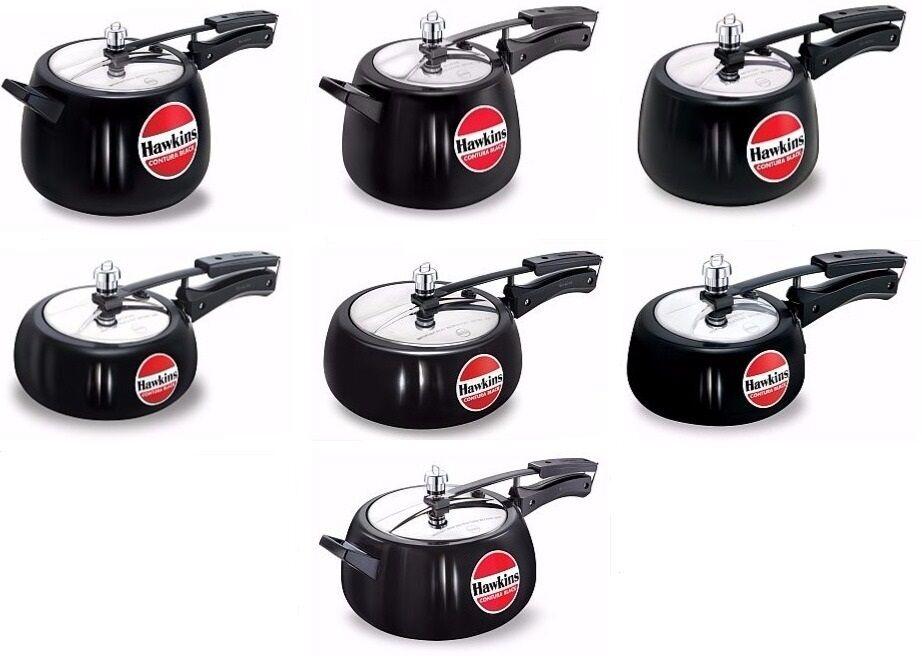 Pressure Cookers  Hawkins  Contura Black  Choose From 7  Indian Cooker