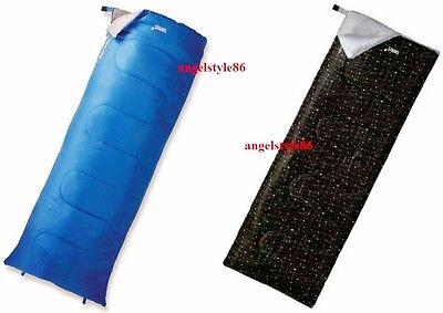 sacco a pelo mummia base quadrata blu nero 190 x 75 isolamento in fibra + SACCA
