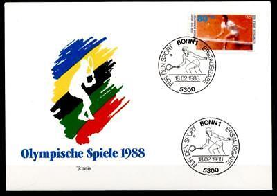 Tennis. Olympische Sommerspiele, Seoul. FDC. BRD 1988