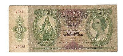 Ungarn Banknote 10 Pengö 1936
