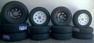 Brand NEW Sunraysia style wheels & light truck tyres!!  185R14 Bl Clontarf Redcliffe Area Preview